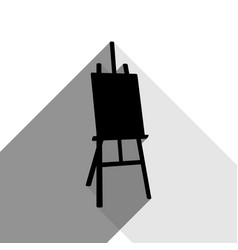 easel sign black icon with two flat gray vector image