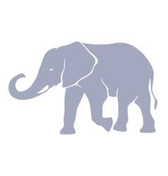 Hand drawn silhouette elephant vector