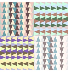 Set of 4 geometric backgrounds vector