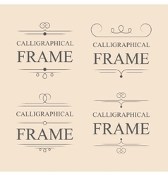 Calligraphic frame elements vector