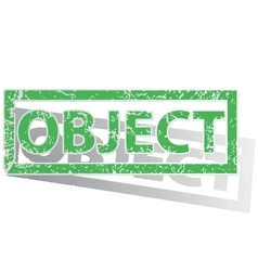 Green outlined object stamp vector