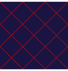 Red grid diamond square royal blue background vector