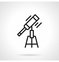 Optical telescope black line icon vector