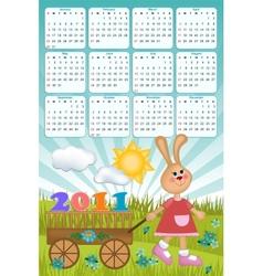 Babys calendar for 2011 vector image