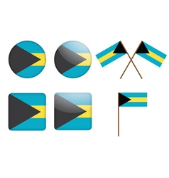 adges with flag of the Bahamas vector image vector image