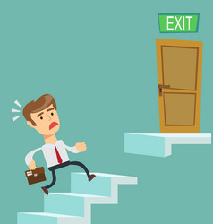 businessman going upstairs steadily vector image