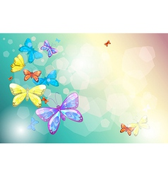 Colorful butterflies in a special paper vector image