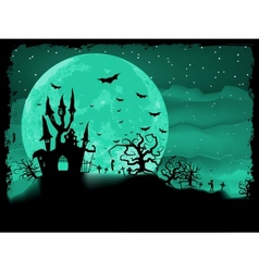 Halloween poster with zombie EPS 8 vector image vector image