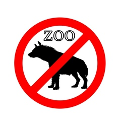 Hyena in zoo prohibited vector