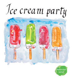 Ice cream party vector