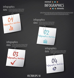 infographics minimal 5 vector image vector image