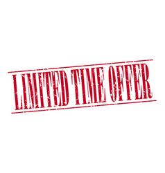 Limited time offer vector