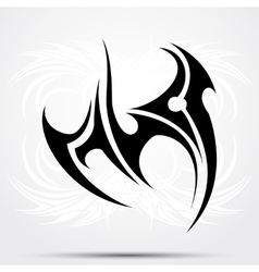 Maori styled tattoo pattern fits for a shoulder or vector image