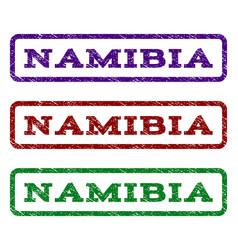 namibia watermark stamp vector image vector image