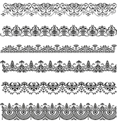 Old border designs set vector image vector image