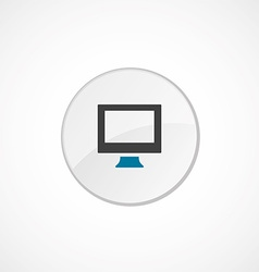 pc icon 2 colored vector image vector image