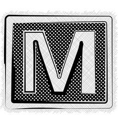 Polka Dot Font LETTER M vector image vector image