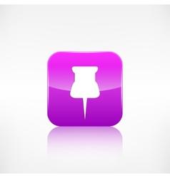 Pushpin web icon application button vector