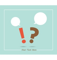 question and exclamation marks with speech bubbles vector image