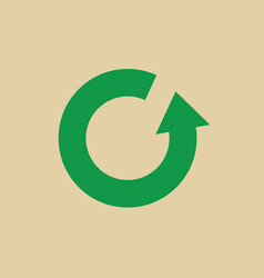 Recycle symbol green arrows logo web icon vector