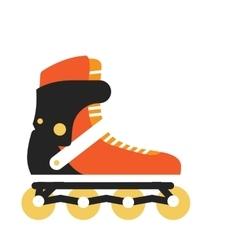 Roller skate in flat design vector