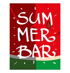 set on a summer theme card watermelon flyer ready vector image