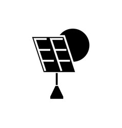 solar battery icon black vector image