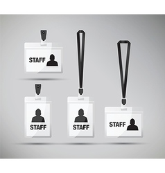 Staff pass lanyards vector