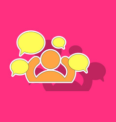 Sticker social network icon people network icon vector