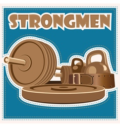 Strongman jeans vector