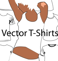 T-shirt template with model vector image vector image