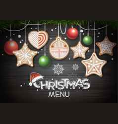 Top view of merry christmas concept design vector