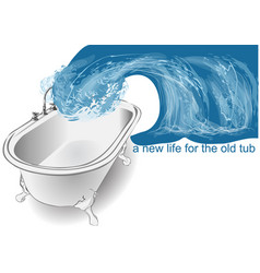 tub and wave vector image vector image