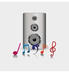 Speaker music sound vector