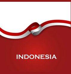 Indonesia sport style flag ribbon classic style vector
