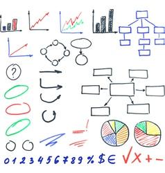 Highlighter elements set vector