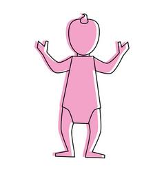 Baby avatar icon image vector