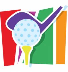 Golf graphic vector