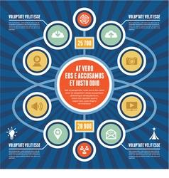 Infographic concept - business scheme - modern tem vector
