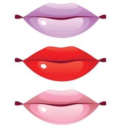 Glossy Lips vector image