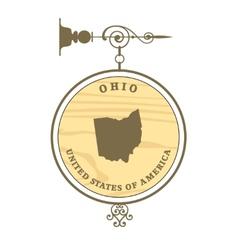 Vintage label Ohio vector image