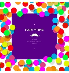 Party time design template with confetti vector