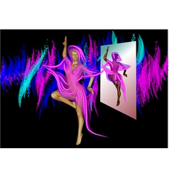 Abstract dancer and mirror vector