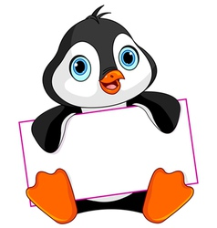 Penguin sign vector