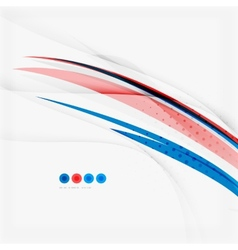 Red and blue color swirl concept vector