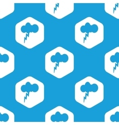 Thunderstorm hexagon pattern vector