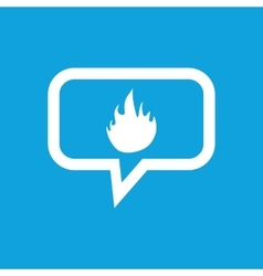 Fire message icon vector