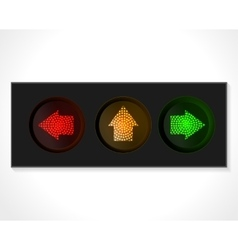 Arrow traffic lights vector