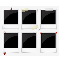 Empty polaroid photo frames vector