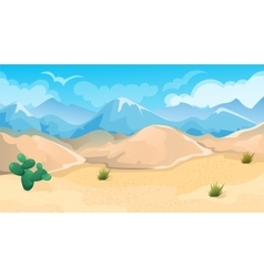 Desert and hills landscape vector